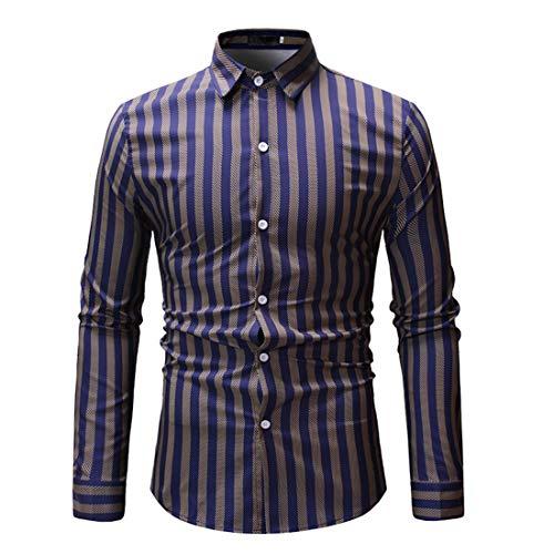 Herren Freizeit Hemden Slim Button Down Long Sleeves Dress Shirts Tops Herren...