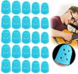 Protège-doigts en Silicone pour Guitare Acoustique Ukulélé Guitare Électrique Basse Protection de Doigt Aléatoire Pour Débutants des Instruments(50pcs) (blue)