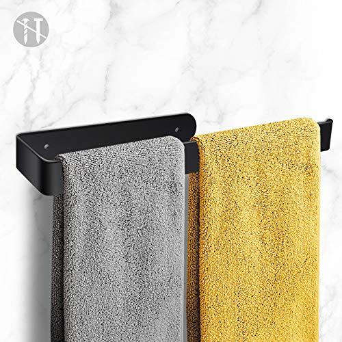 Handtuchhalter, Handtuchhalter Ohne Bohren, Aluminium-Handtuchstange Schwarz für Bad Küche Toilette