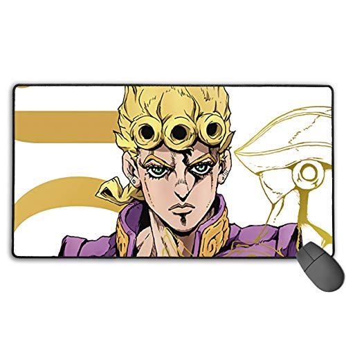 Stitched Edge Mouse Pad,JoJo's Bizarre Adventure  Waterproof Writing Mat,Precise Seaming Environmentallyprotective Case for Laptop Travel Games Christmas