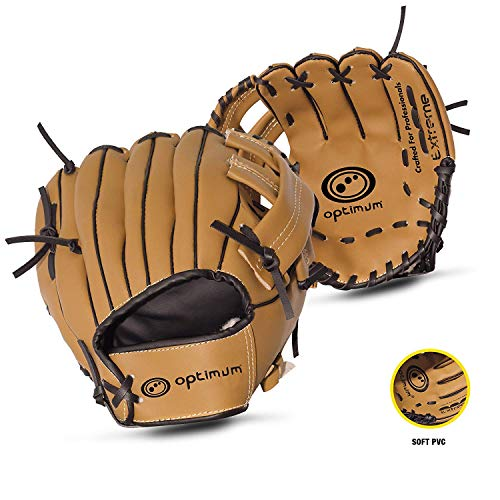 OPTIMUM Guante de Beisbol para niños Extreme, Marrón, Unisex-Youth, Junior