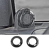 SQQP A Pillar Speaker Decoration Cover Trim, ABS Carbon Fiber Interior Accessories for 2007-2014 Jeep Wrangler JK
