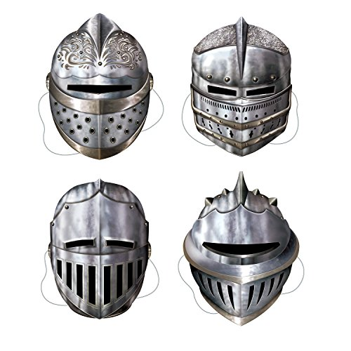 Beistle 66802 Knight Masks Party Accessory , Multicolored, 4-pcs | (1-Pack)