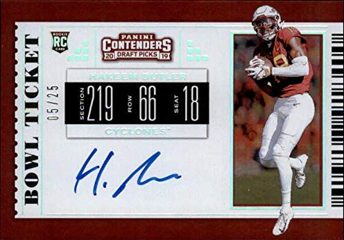 2019 Panini Contenders Draft Tickets RPS College Bowl Ticket #123 Hakeem Butler RC AUTO Autograph 5/25 Iowa State Cyclon