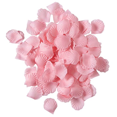 Amakando Pétalos de rosa para decoración de mesa, 150 unidades