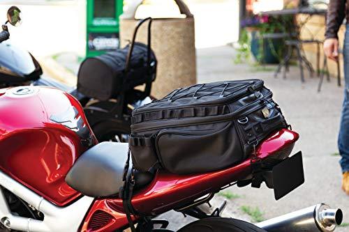 Kuryakyn 5214 Momentum Roamer Tail Bag Motorcycle Travel Luggage: Weather Resistant Rear Fender/Passenger Seat/Trunk/Rack Bag with Straps, Black