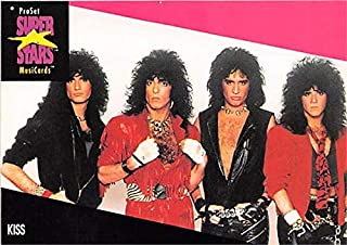 Kiss trading card Gene Simmons Paul Stanley Tommy Thayer Bruce Kulick 1991 Proset Music Super Stars #196 Lick It Up