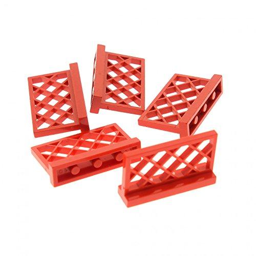 Bausteine gebraucht 5 x Lego System Zaun rot 1x4x2 Gitter Absperrung Gatter Garten Zäune 318521 3185