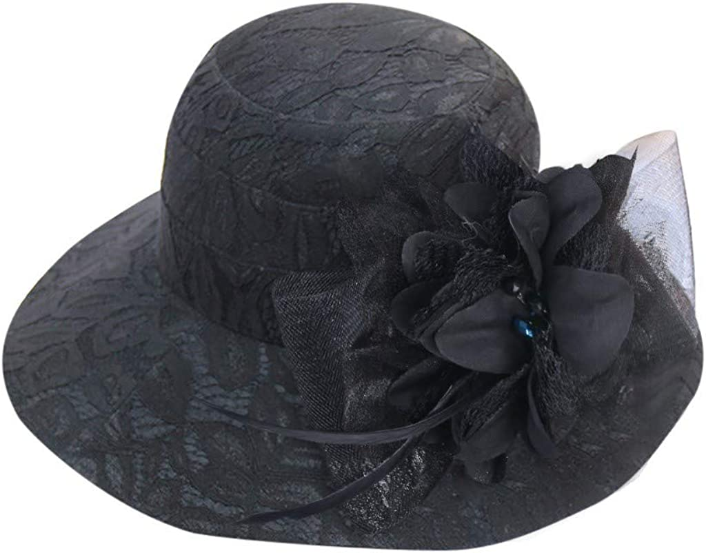 Women's Church Kentucky Fascinator Bridal Tea Party Wedding HatWinter Hats,Sun Protection Hats