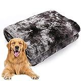 PET SPPTIES Coperta per Cane/Gatto, Lavabile Soffice Durevole, Caldo Morbido Coperte per Piccoli Medi Grandi Animali Domestici PS075 (80 * 120cm, Black)