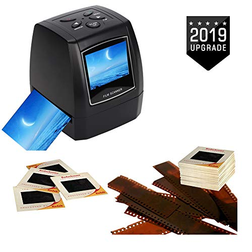 Wendry Digital Film Scanner, 5MP/ 10MP USB Portable Negative Film Scanner with 2.36 inch TFT LCD Screen Support SD MMC Card, Suitable for Office and Home