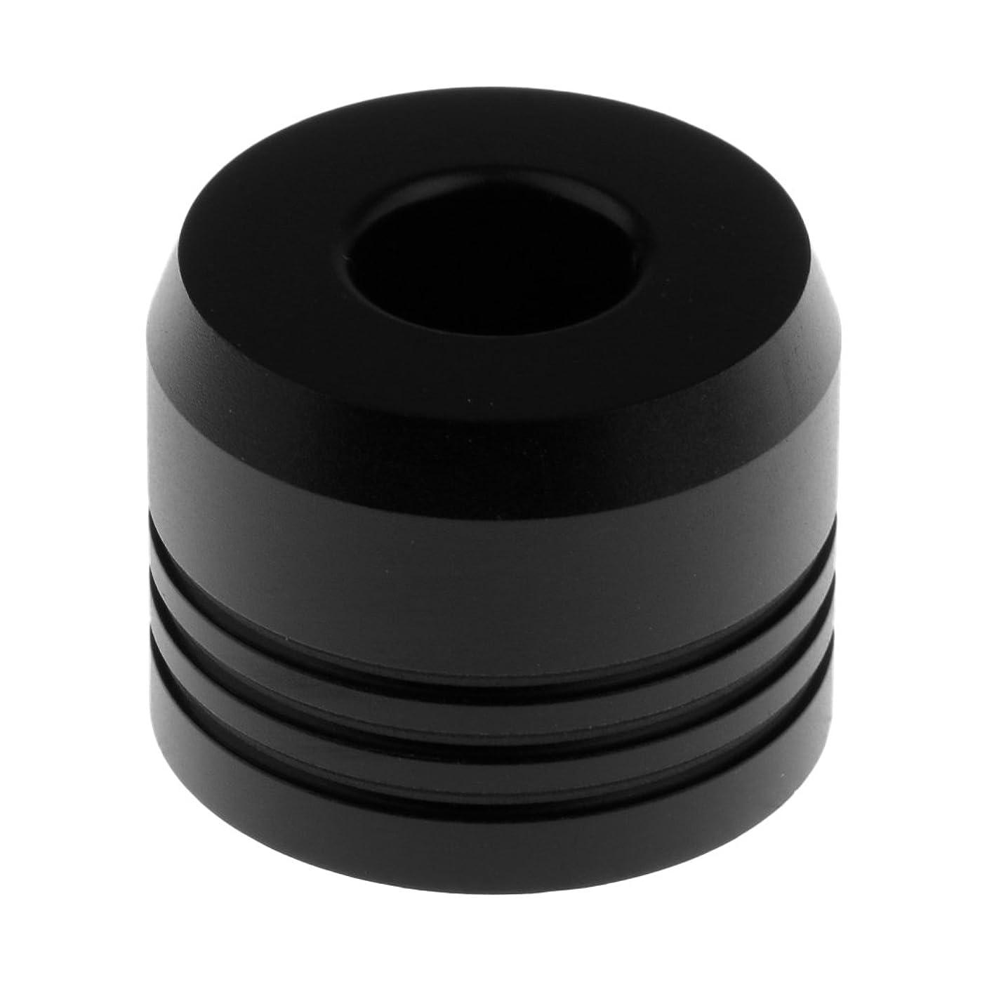 米国全員弁護Perfk カミソリスタンド スタンド メンズ シェービング カミソリホルダー サポート 調節可 ベース 2色選べ   - ブラック