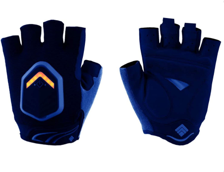 HBRT Fahrrad-Blinker Handschuhe, Autobahn LED-Abbiegelicht Intelligenter Sensor IP-X6 wasserdicht hohe Helligkeit, sicherheitsfreundlich Fahrzeug erinnert,Blau