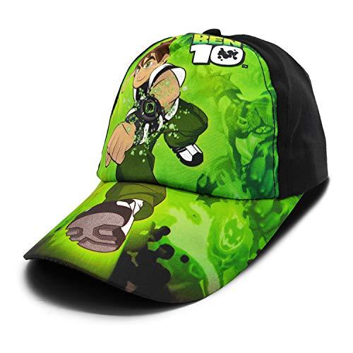 VRITRAZ Kid's Ben Cartoon Character Printed Little Baseball Cap (Black Green , 3-12 Years )