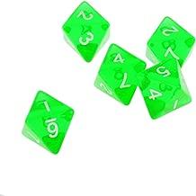 Blesiya Gem Muti Sided Dices Set of 5 D8 D&D TRPG Warhammer Games Green