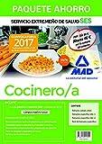 Paquete Ahorro Cocinero/a del Servicio Extremeño de Salud. Ahorro de 46 € (incluye Temario común y test; Temarios específicos 1 y 2; Test temario específico y acceso a Campus Oro)