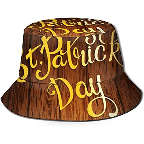 Tracray St. Patrick 's Day Goin mit Bier auf Shamrock Lucy Clover In rustikalen Holz Unisex Bucket Hat