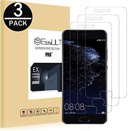 EasyULT [3-Pezzi] Pellicola Protettiva per Huawei P10, Pellicola Protettiva in Vetro Temperato Screen Protector per Huawei P10