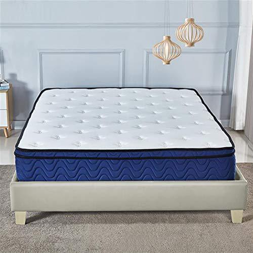 10 inch Sleep Memory Foam Pocket Sprung Mattresses, Breathable Knitting Fabric Hybrid Pocket Sprung Mattress Multi-Functional 9-Zone Support System -3FT(90 * 191CM)