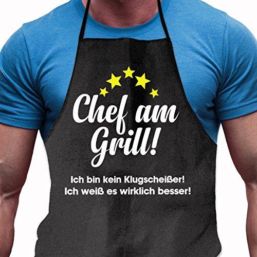 Shirtoo Grillschürze Besserwisser - Lustiges Geschenk für Männer und Grillmeister
