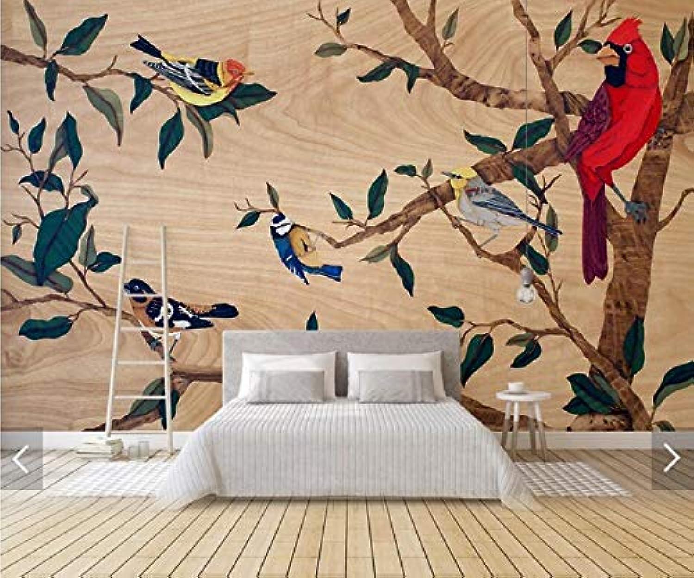 NNKKBH Papel Tapiz Tropical Mural Decoración De Parojo Papeles Pintados Mejoras para El Hogar Selva Tropical Planta verde Hoja Loro Animal Murales De Parojo, 210 Cm × 150 Cm