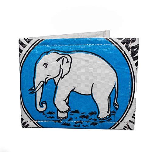 Elephant Brand Recycling Portemonnaie Money, Blau EB10018 only Size