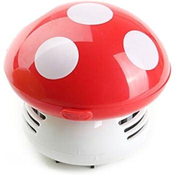 WINOMO Mini Aspirador de Polvo de Limpiador del Escritorio de Diseño de Estampado (Rojo): Amazon.es: Hogar