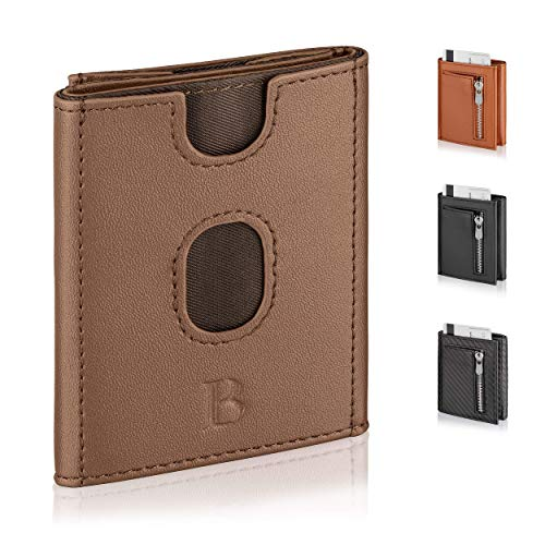 Kartenetui Herren mit TÜV geprüftem RFID-Blocker - Kreditkartenetui mit Druckknopfverschluss - RFID Geldbeutel Herren - LOGAN & BARNES - Modell Copenhagen