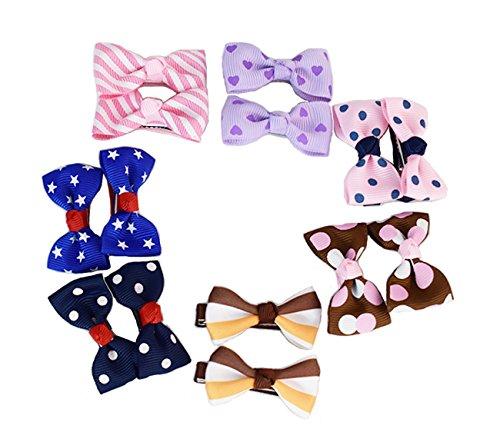 14pcs multicolor Litter lazos para el pelo Clips Barrettes para niños niñas bebés por refee