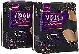 Ausonia Discreet Boutique Bragas Mujer para Pérdidas de Orina Talla M, 18 Unidades, Bloquean el Olor y la Humedad Evitando Fugas - Negro