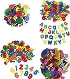BUSDUGA - Moosgummi Bastelset 680 Teile- Buchstaben , Zahlen , Formen und Kreise - PREISVORTEIL