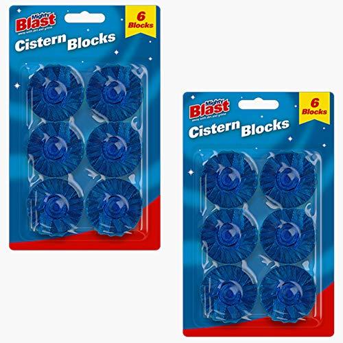 Limpiador de cisternas para inodoro Tabletas Blu Dirt Stain Germ Bacterias Killer (Pack de 12)