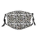 Cheetah Print Leopardo Ajustable Anti Polvo Cara Boca Reutilizable Lavable Cara Cubierta Facial Polvo Boca Bufanda