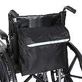 LFANH Sac à dos pour fauteuil roulant et fauteuil roulant avec accessoires de grande capacité pour la plupart des marcheurs, scooters, fauteuils roulants électriques, personnes âgées, etc. Noir