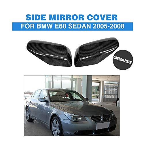 ZHAOHAOSC , FürAutospiegelabdeckungen imCarbon-Ersatzstil, Für 2002-2007, Für BMW 5er E60 E61 6er E63 E64 Rückspiegelkappen