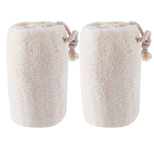 OUNONA Natural Esponja loofah Natural Luffa Exfoliante para Bano 2 piezas