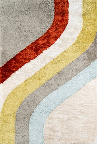 Novogratz Retro Collection Classic Shag Area Rug, 2'0″ x 3'0″, Multicolor