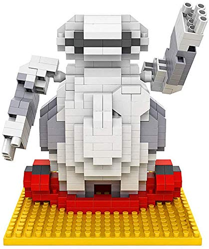 QSSQ Mini Nano Building Blocks Construction Juguetes, Figura De Rompecabezas 3D, Juguetes Ladrillos para Regalo De Cumpleaños,Robot