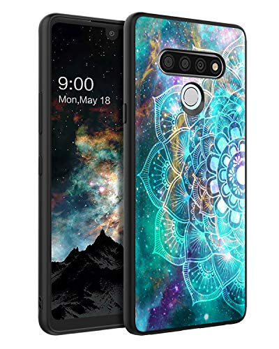BENTOBEN Compatible with LG Stylo 6 Case, Phone Case LG Stylo 6 2020, Slim Fit Glow in the Dark Shockproof Hybrid Hard PC Soft TPU Bumper Protective Girls Women Covers for LG Stylo 6,Mandala in Galaxy