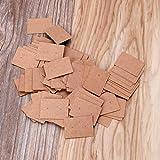 LessLIFE Soporte para pendientes, 100 piezas/set de tarjetas de papel kraft pendientes pendientes pendientes pendientes de exhibición de joyería de embalaje de tarjetas-1
