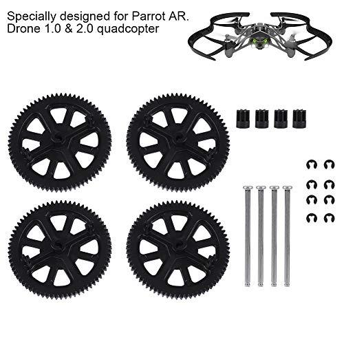 Alomejor Drohnenmotor Zahnradwellensatz RC-Zubehör für Parrot AR Drone 1.0 & 2.0 Quadcopter Hauptgetriebe Motor Kleine Zahnräder