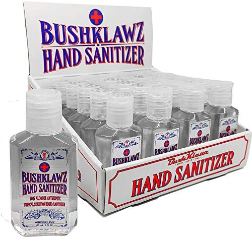 BushKlawz Hand Sanitizer Gel 24 Pack 2 oz Travel Size 70 Alcohol No Rinse Instant Clean with product image
