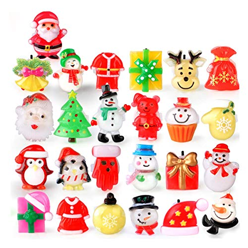 FLY2SKY 25Pcs 3D Christmas Party Favors LED Finger Light Up Rings for Kid & Adults Toys Christmas Stocking Stuffers Kids Assorted Styles Gift Package Christmas Goodie Bag Fillers 2020 New Version