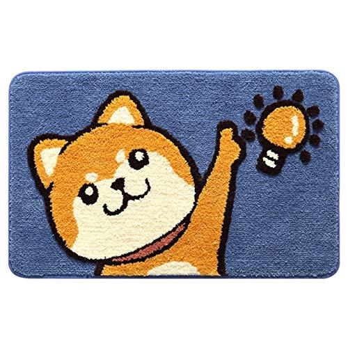 Wivarra Alfombrilla de Ba?O de Dibujos Animados Gato Flocado Estera del Piso...