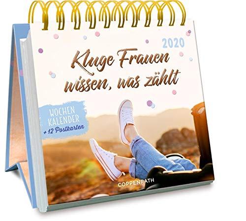 Kluge Frauen wissen, was zählt 2020: Wochenkalender + 12 Postkarten (Jahreskalender)