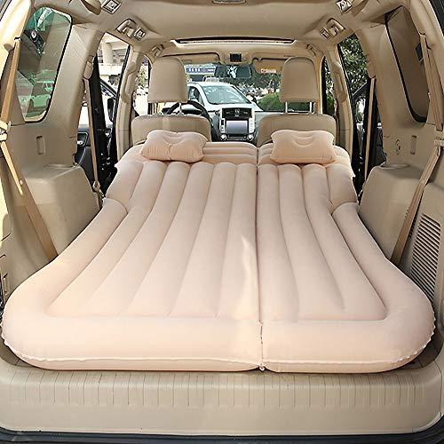 WSJMJ Auto Materasso Gonfiabile, Bagagliaio/Sedile Posteriore DoppioSedile Esteso Materasso-Mobile Cuscino Gonfiabile per Dedicato al Riposo del Sonno e al Movimento Intimo,Beige