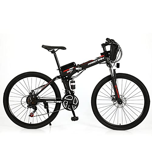 ZGZFEIYU Bicicleta De Montaña Eléctrica De 26 Pulgadas De Velocidad Variable para Adultos, Equipada con Batería De Litio 36V 8Ah / 10Ah / 12Ah / 16Ah / 20Ah Y 21 Velocidades-a||36V20AH