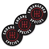 5x5 Endangered Species Bumper Sticker 3-Pack, 100% Waterproof, Manual Transmission Sticker, Stick Shift Sticker, Funny Car Stickers and Decals, Save The Manuals Sticker