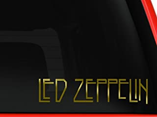 LA DECAL Led Zeppelin Rock Band Car Window Vinyl Decal Sticker (Gold, 8 inches)