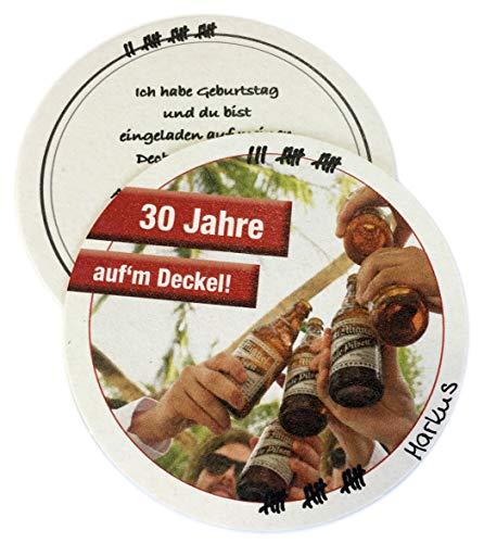 Geburtstags-/Party-Einladung/Bierdeckel / 30. Geburtstag / 10 Stück